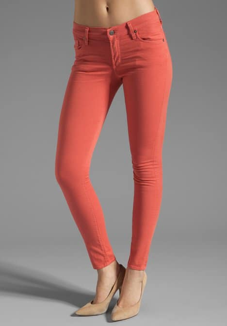 Citizens of Humanity Thompson Twill Ankle Skinny Jeans in Watermelon