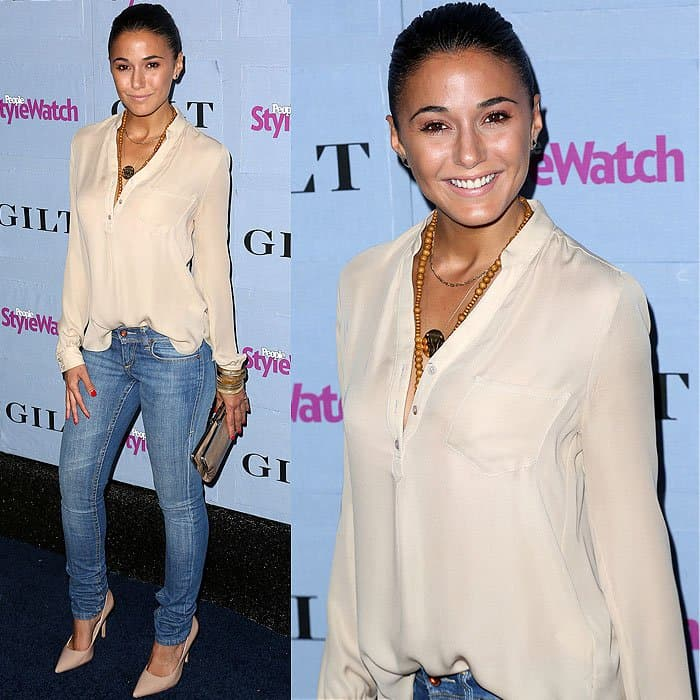 Emmanuelle Chriqui arrives at the People StyleWatch Denim Party