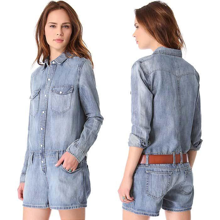 Joe's Jeans Shirtall Denim Romper