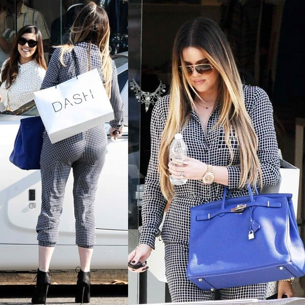 Khloe Kardashian was spotted on Melrose Avenue with her head held high, filming an episode for their reality show 'Keeping Up with the Kardashians'