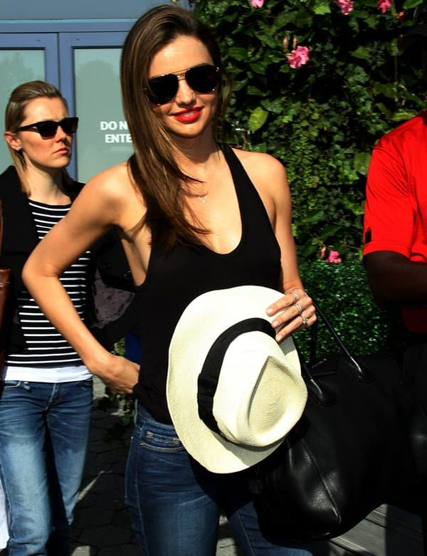 Miranda Kerr stole the spotlight with her head-turning outfit at the US Open Tennis event held in New York last weekend