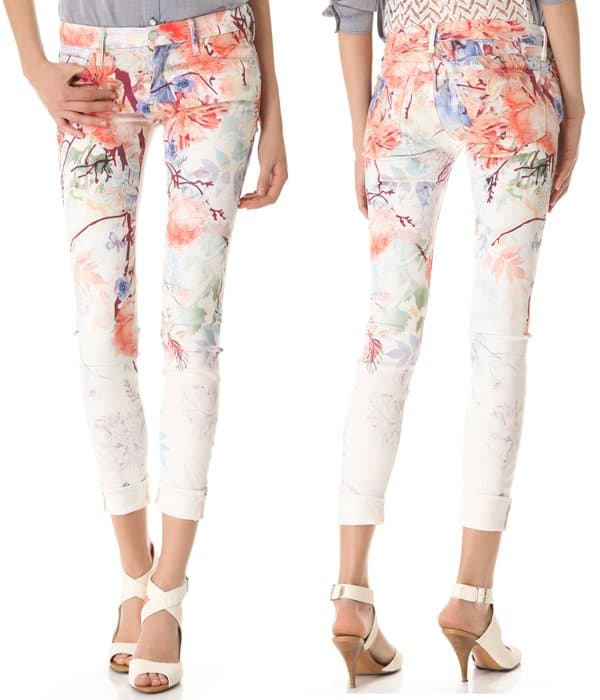 Mother Pocket Full of Posies Looker Skinny Jeans