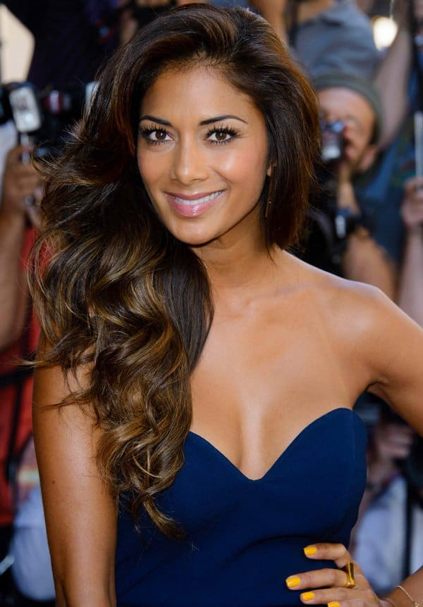 Nicole Scherzinger's raven-hued clip-in extensions from Beauty Works