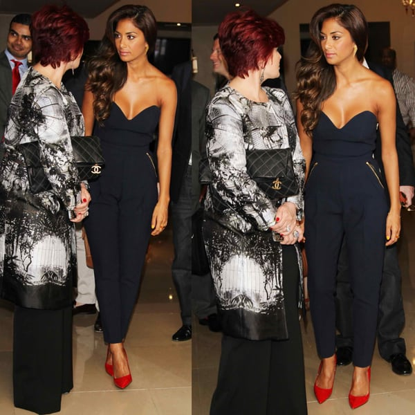 Nicole Scherzinger arrives for the X-Factor Press Launch held at The Mayfair Hotel