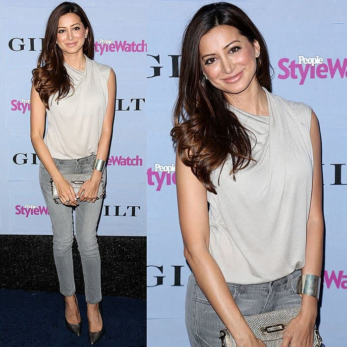 Noureen Dewulf arrives at the People StyleWatch Denim Party