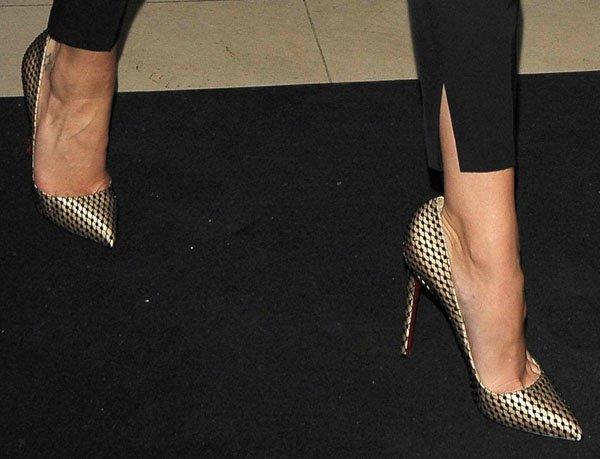 Rosie Huntington Whiteley wearing Christian Louboutin heels