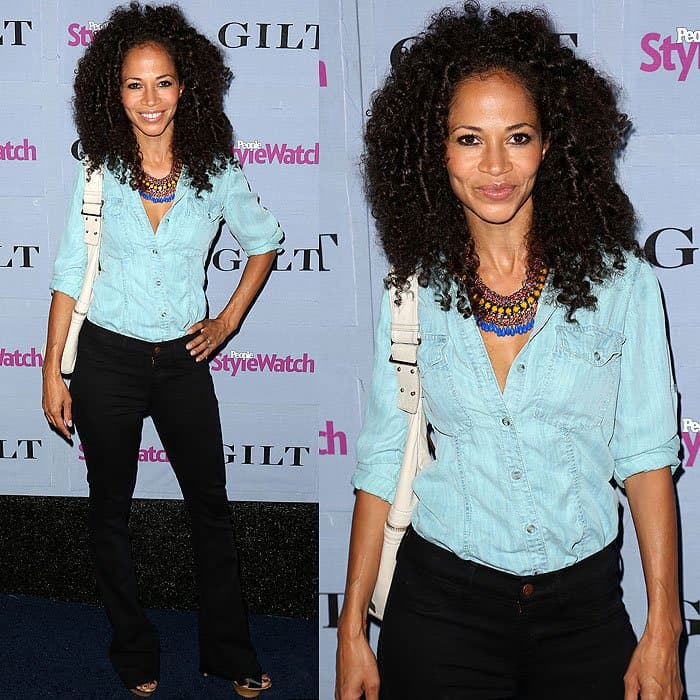 Sherri Saum arrives at the People StyleWatch Denim Party