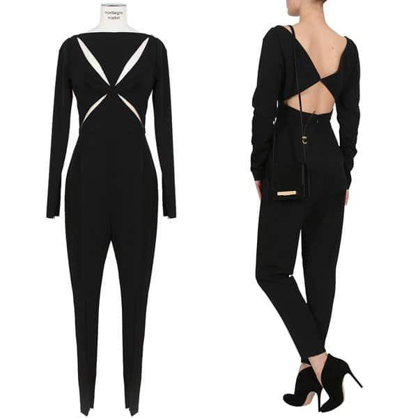 Stella McCartney Black Wool Jumpsuit
