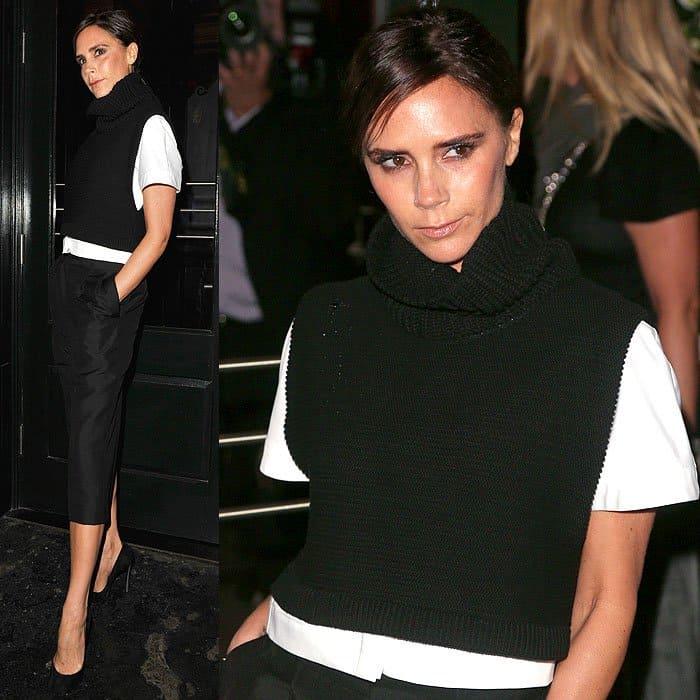 Victoria Beckham Vogue dinner at Balthazar