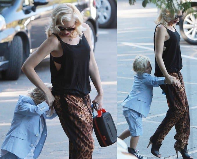 Gwen Stefani taking son Zuma to school in Los Angeles, California, on September 16, 2013