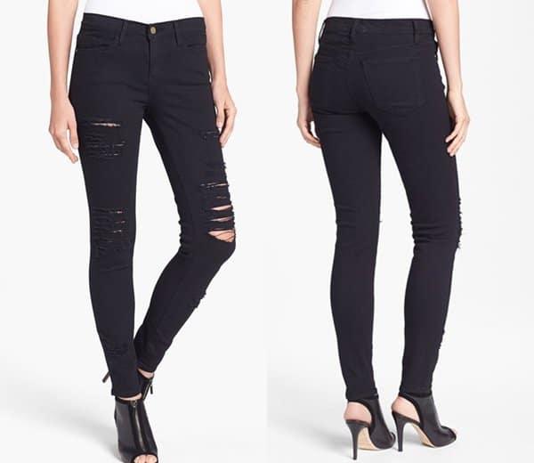 """Frame Denim """"Le Color Rip"""" Skinny Jeans"""