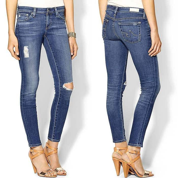 """AG Adriano Goldschmied """"The Legging Ankle"""" Jeans in 18 Years Destroyed"""