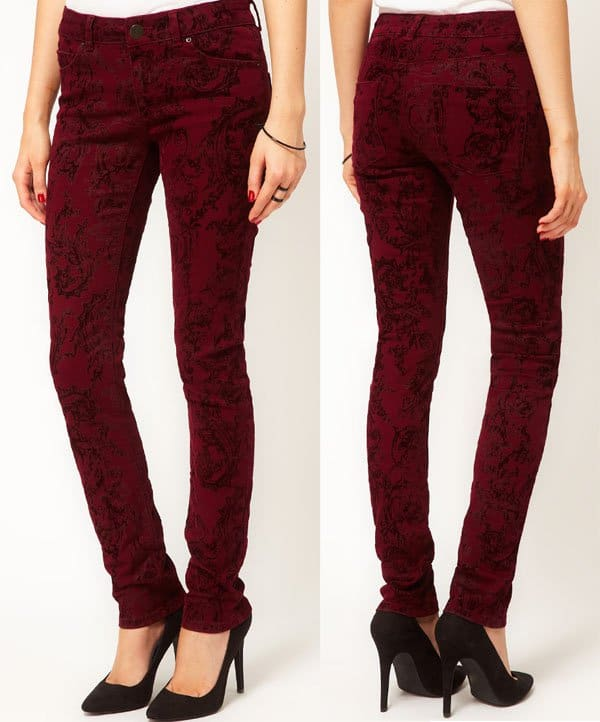 ASOS Skinny Jean with Baroque Flocking