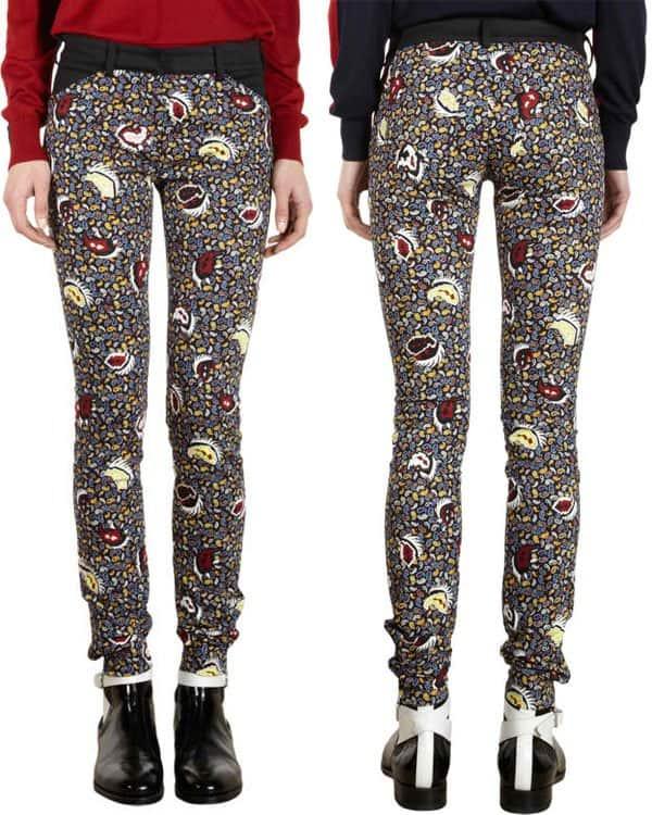 Balenciaga Paisley Patter Skinny Jeans