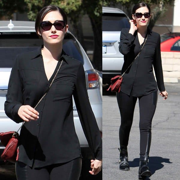 Emmy Rossum was spotted out and about yet again looking all polished before the paparazzi could even spot her