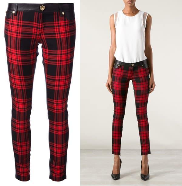 Fausto Puglisi Tartan Print Trousers