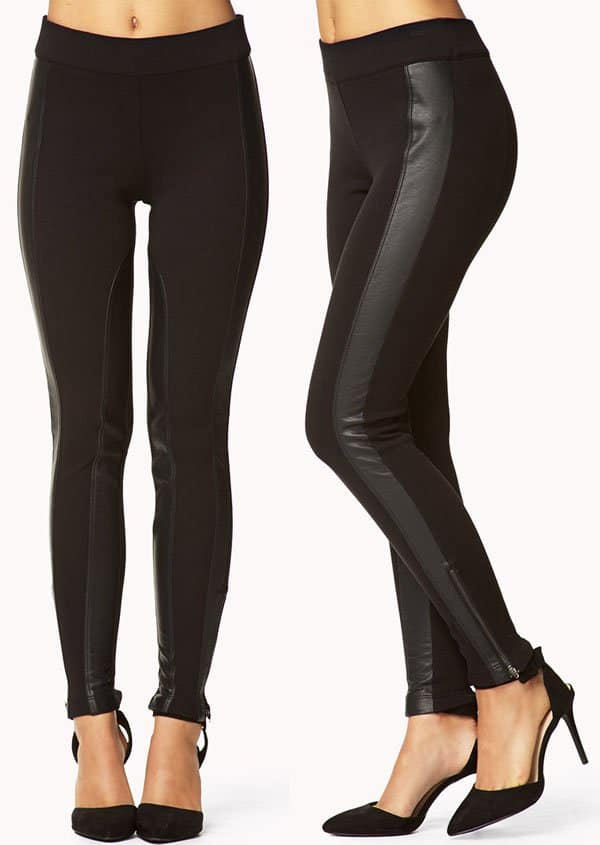 Forever 21 Be Seen Faux Leather Leggings