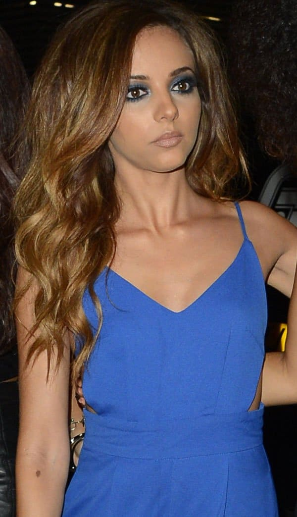 Jade Thirlwall at fellow bandmate Leigh-Anne Pinnock's birthday party at 55 Club in London on October 4, 2013