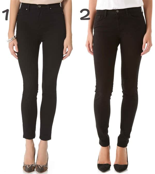 January Jones inspired mom duty jeans