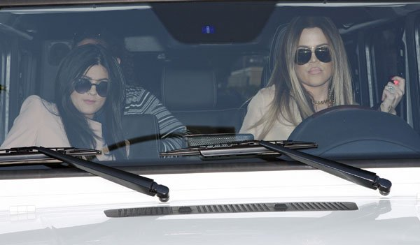 Khloé Kardashian and Kylie Jenner filming for their show while shopping at Kitson on Robertson Avenue Clothing Store in Los Angeles on October 2, 2013
