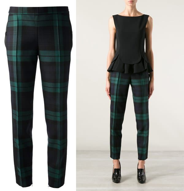 Moschino Plaid Trousers