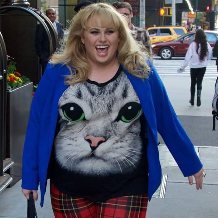 Rebel Wilson wore a huge smile on her face just days before her first ever comedy series 'Super Fun Night' premieres on ABC