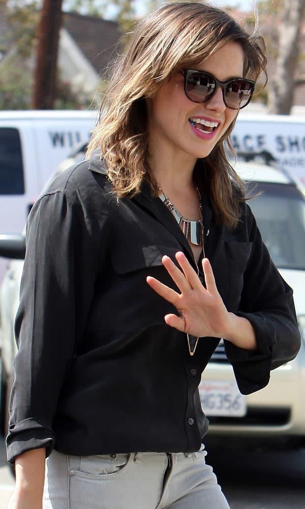 Sophia Bush leaving a hair salon in Beverly Hills, Los Angeles, on October 3, 2013