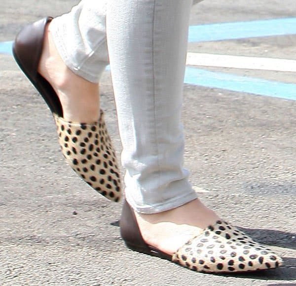 Sophia Bush turned to trusty ol' leopards for a pop of color and texture on her feet
