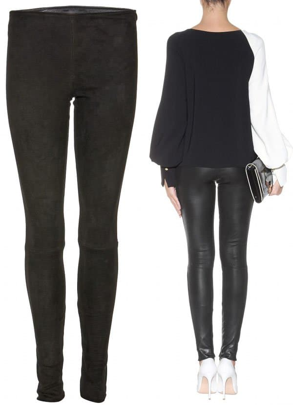 The Row Speto Leather and Suede Leggings