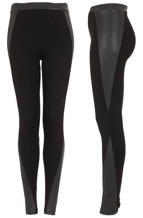 Topshop Curved Panel Side Treggings