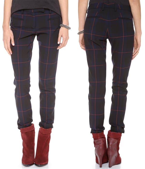Cool tartan lends a bold, modern look to classic True Royal trousers
