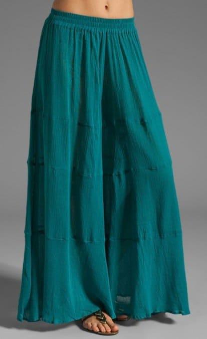 Gypsy Junkies 'Lola' Wide-Leg Pants in Turquoise