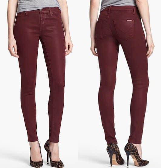 Hudson Jeans Krista Super Skinny Jeans in Crimson Wax
