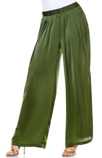 IMAN Global 'Rock the Runway' Wide-Leg Pants in Olive