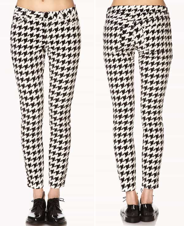 Forever 21 Retro Corduroy Houndstooth Pants