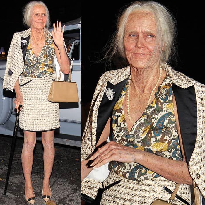 Heidi Klum old lady Halloween costume