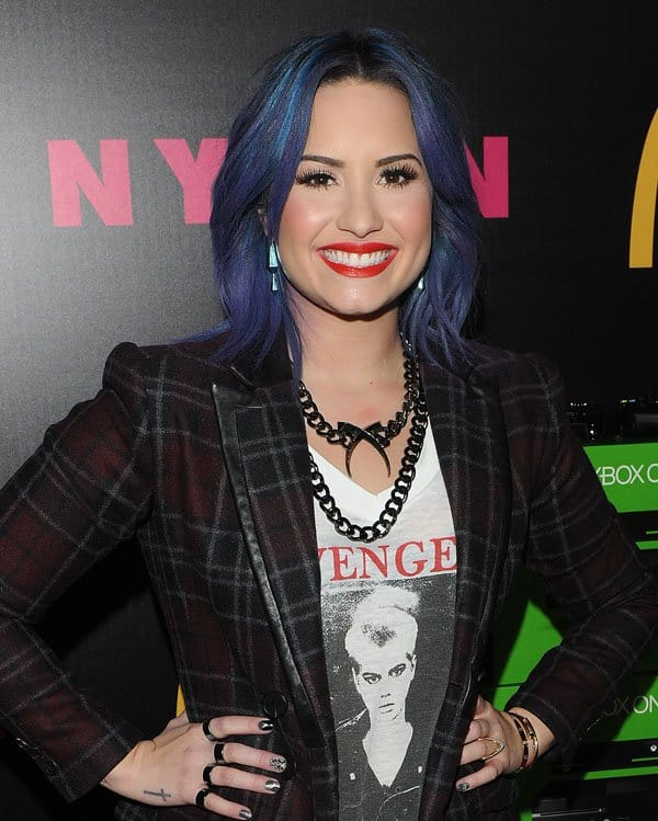 Demi Lovato and Nylon Magazine December Issue Celebration
