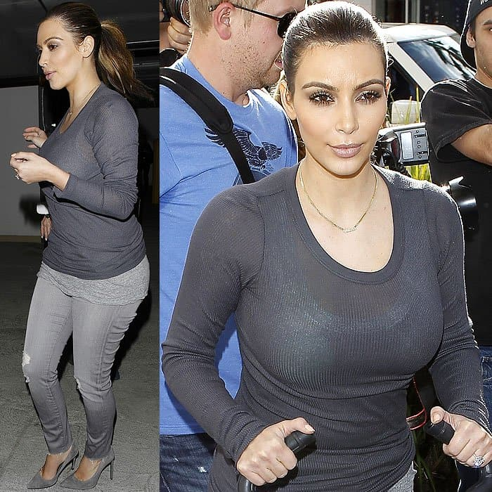 Kim Kardashian Christmas shopping in Beverly Hills
