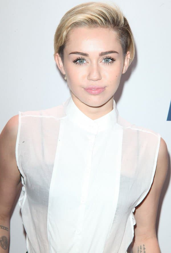 Miley Cyrus on the red carpet of the 2013 Jingle Bell Ball held at Madison Square Garden in New York City on December 14, 2013