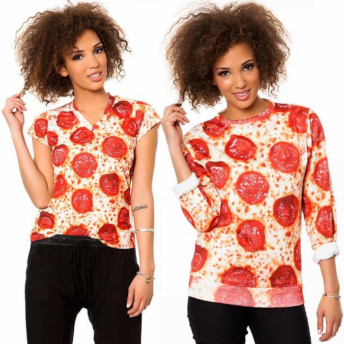 Pepperoni print tops