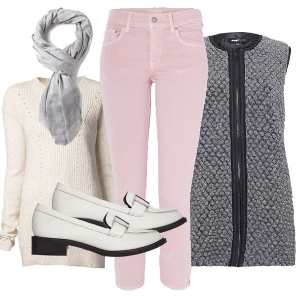 Pink pants outfit inspired by Jessica Alba