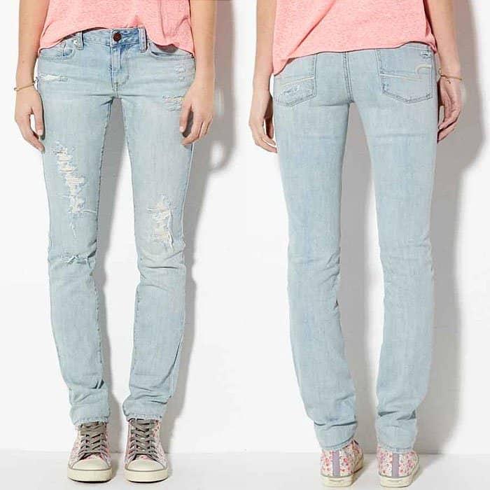 American Eagle Skinny Jeans in Light Destroy Vintage