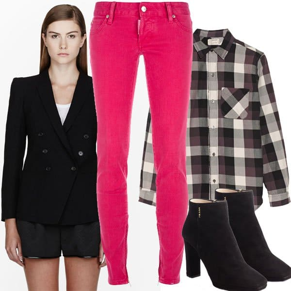 Pink jeans outfit inspired by Pippa Middleton