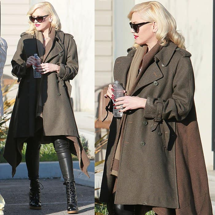 Gwen Stefani pregnant in jeans