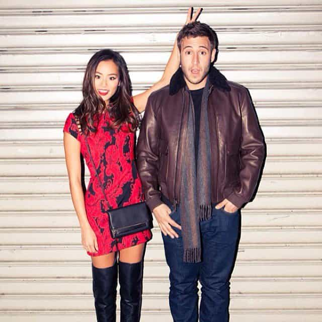 Jamie Chung and Bryan Greenberg in an Instagram pic taken when they attended the 2013 Victoria's Secret Fashion Show at the Lexington Avenue Armory in New York City on November 13, 2013