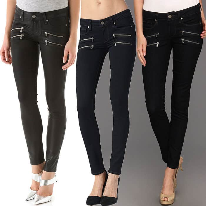 "Paige ""Edgemont"" Zippered Ultra Skinny Jeans"