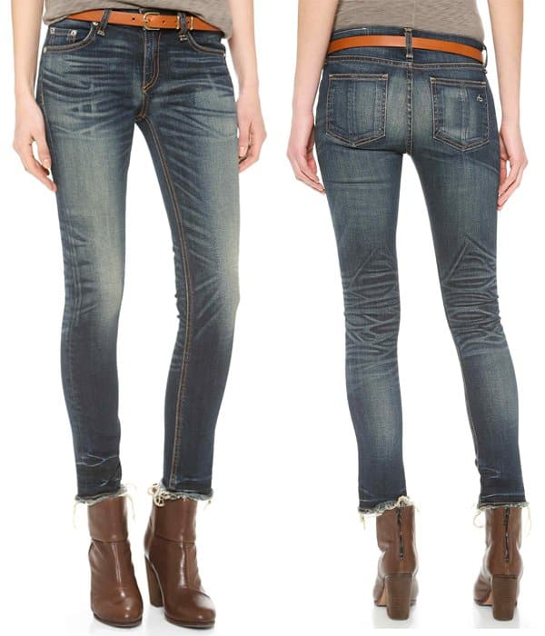 Rag & Bone JEAN The Slim Crop Jeans