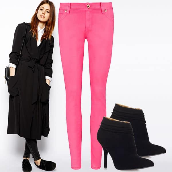 Pink jeans outfit inspired by Jessica Alba