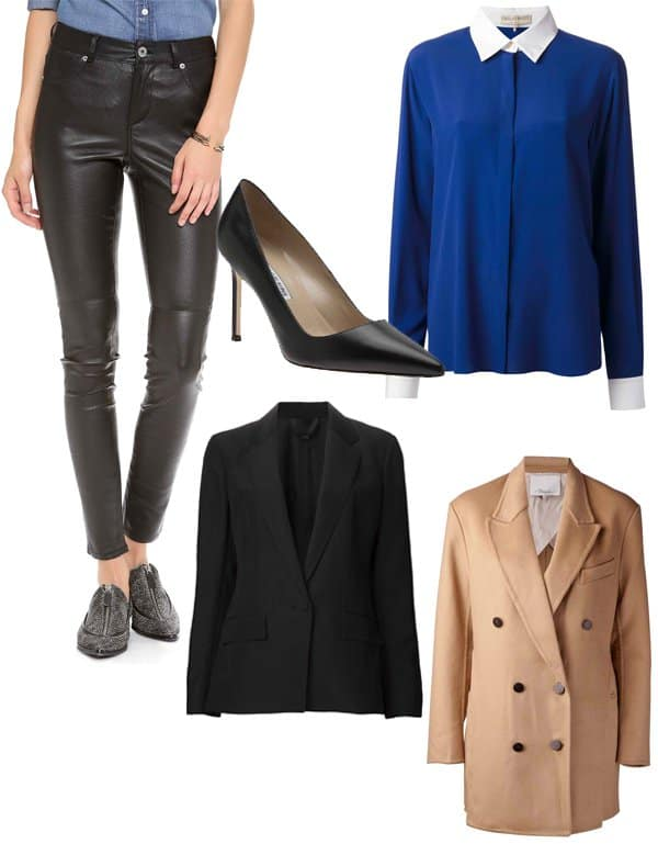 Zoe Hardman inspired fashion with leather pants