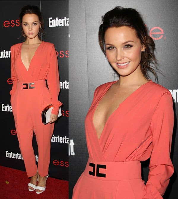 Camilla Luddington flashes sideboob in a jumpsuit at Entertainment Weekly's Screen Actors Guild party